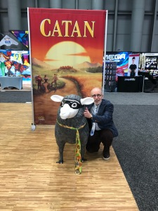 Ira with Catan sheep